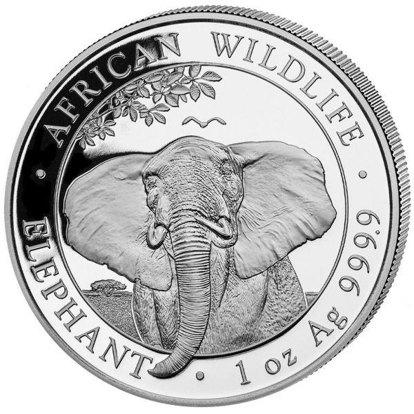 100 Shillings Somalia Elephant 1oz 2021 Silber St