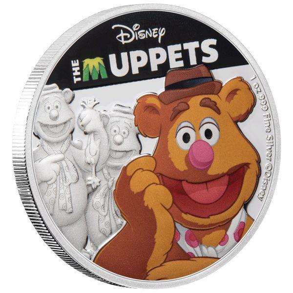 """2 Dollar Niue """"Die Muppets™ - Fozzie Bär™"""" 2019 Silber PP"""