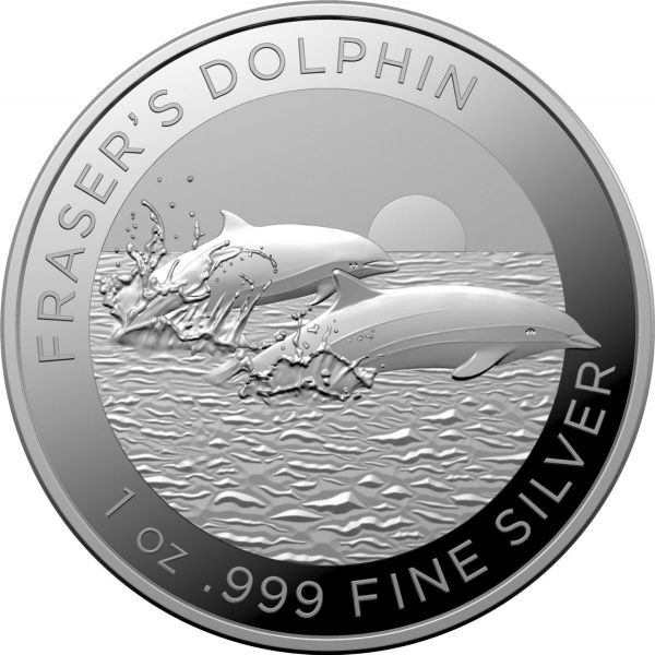 1 Dollar Australien Frasers Delfin 2021 Silber St