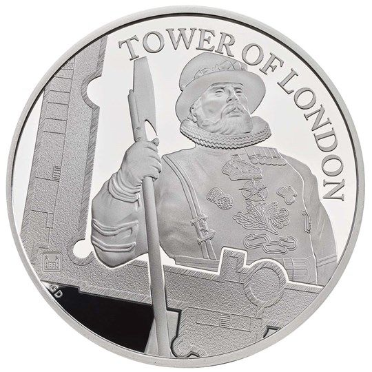 """5 Pfund Großbritannien """"Die Yeoman Wärter"""" 2019 Silber PP"""