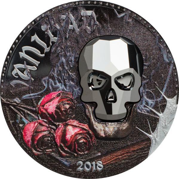 "1000 Francos Equatorial Guinea ""Crystall Skull Vanity"" 2018 Ag PP"