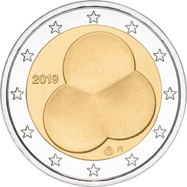 2 Euro Finnland 100 J. Finnische Verfassung 2019 CuNi bfr