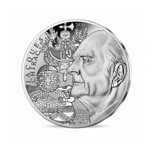 10 Euro Frankreich Jacques Chirac 2020 Silber St