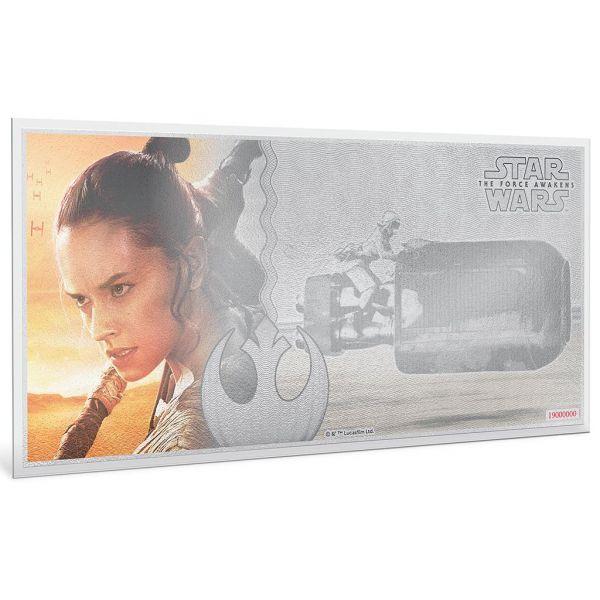 "1 Dollar Niue ""Star Wars - Rey"" Banknote 2019 Silber St"