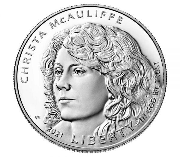 1 Dollar USA Christa McAuliffe 2021 Silber PP