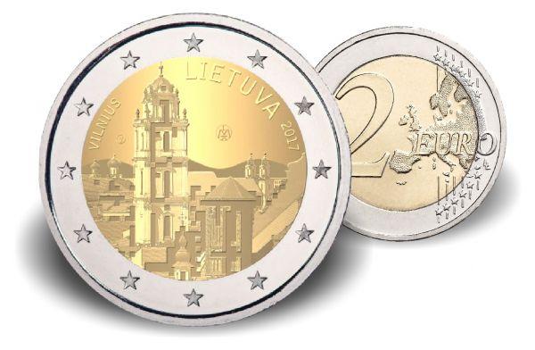 "2 € Litauen ""Vilnius - Kunst- und Kulturhauptstadt"" 2017 CN bfr"