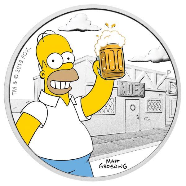 "1 Dollar Tuvalu ""The Simpsons - Homer"" 2019 Silber PP"