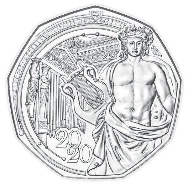 5 Euro Österreich 150 J. Musikverein 2020 Silber hgh
