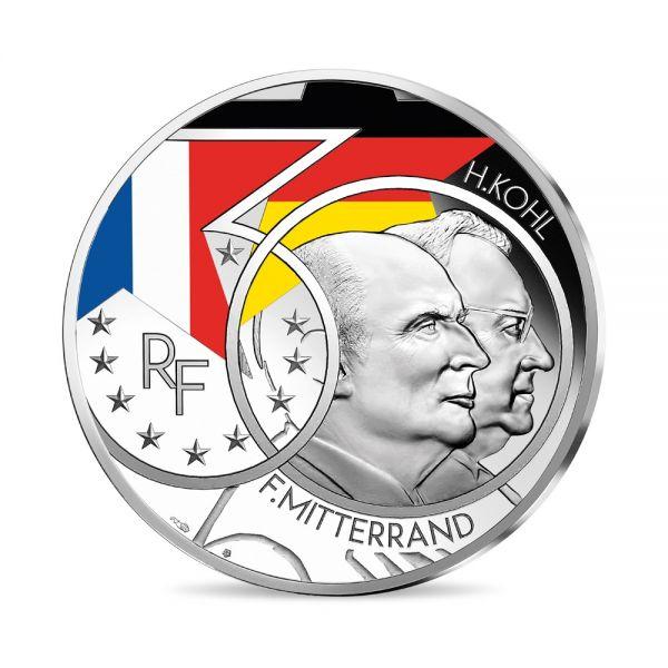 10 Euro Frankreich Mitterrand & Kohl 2020 Silber PP
