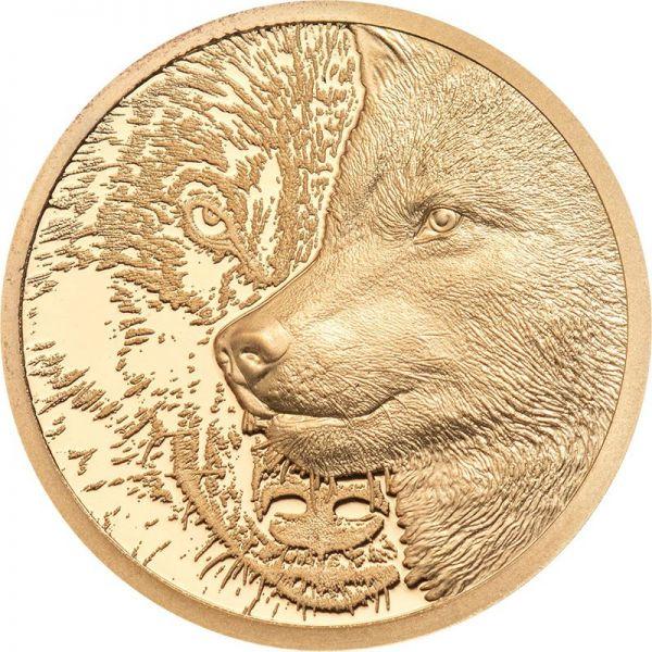 1000 Togrog Mongolei Mystic Wolf 2021 Gold PP