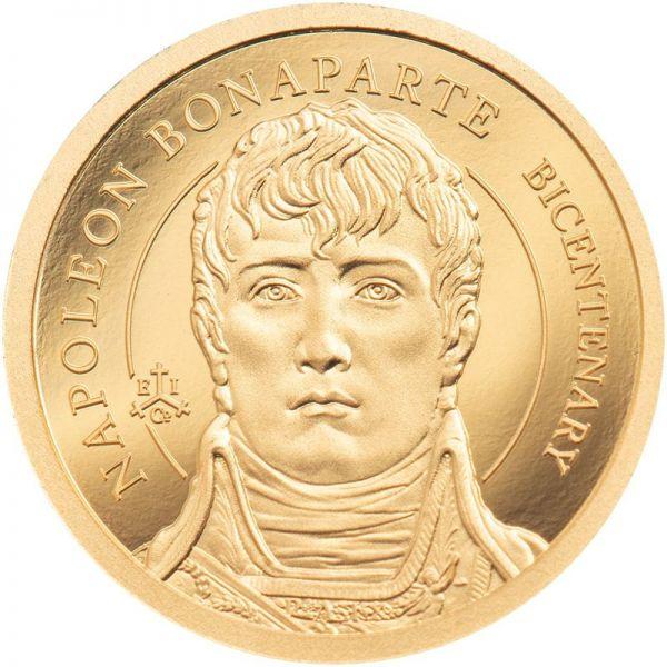 2 Pfund St. Helena 200 Td. Napoleon Bonaparte 2021 Gold PP