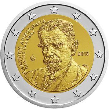 "2 € Griechenland ""Kostis Palamas"" 2018 CuNi bfr"