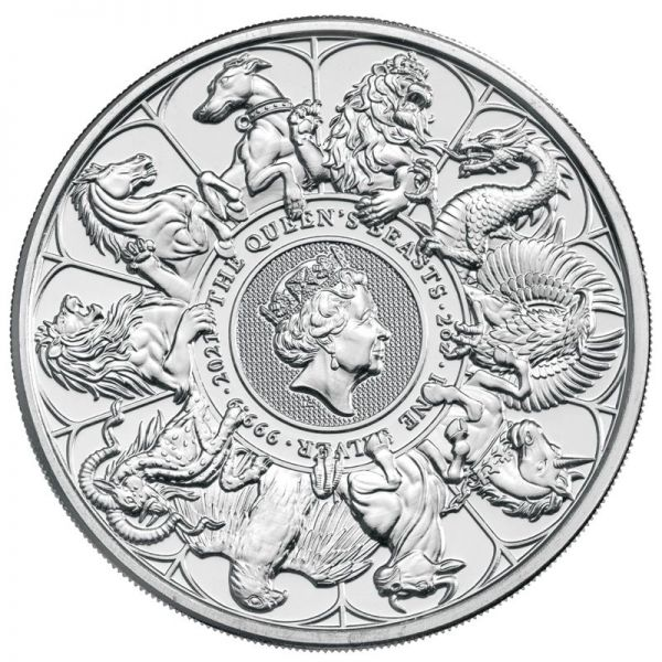 5 Pfund GB Queen's Beasts Collection Completer Coin 21 Silber St