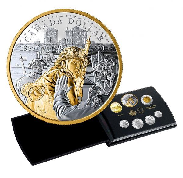 """4,90 $ Kanada """"75. Jahrestag D-Day"""" 2019 Silber PP"""