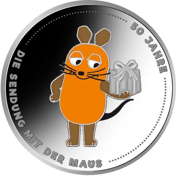 20 Euro DE 50 Jahre Sendung mit der Maus 2021 Silber St -A-
