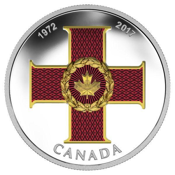 """20 $ Kanada """"Cross of Valour - Orden"""" 2017 Ag PP"""