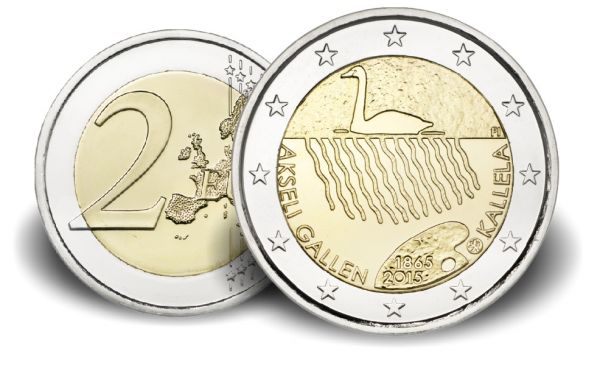 "2 € Finnland ""Akseli Gallen-Kallela"" 2015 CN bfr"