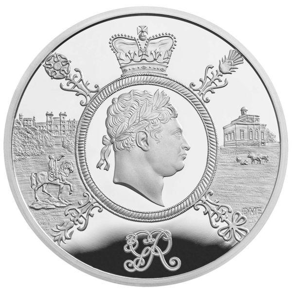5 Pfund Großbritannien King Georg III 2020 Silber PP