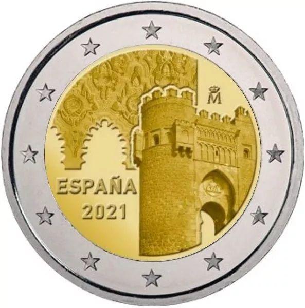 2 Euro Spanien Altstadt von Toledo 2021 CN bfr