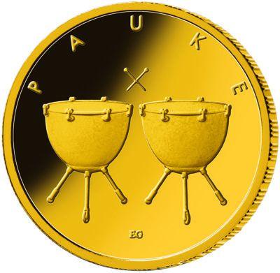 50 Euro DE Pauke 2021 Gold St 1/4oz -F-