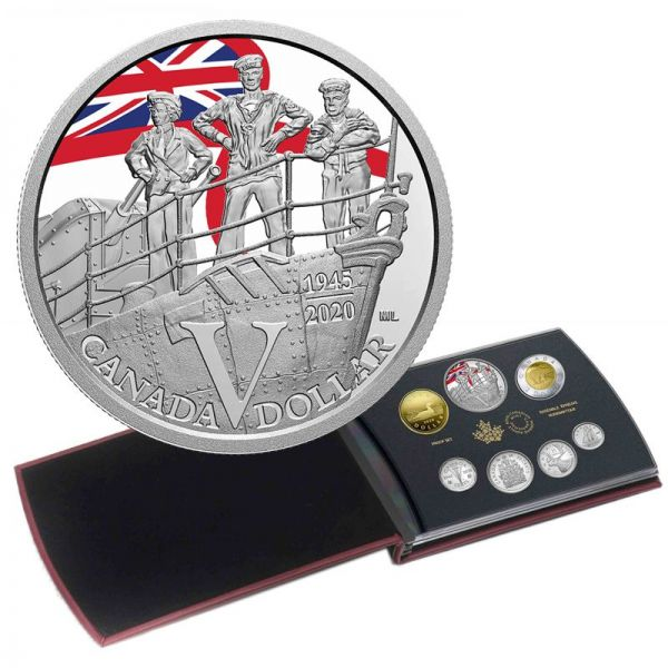 4,90 Dollar Kanada 75. J. Ende WW2 VE Day 2020 Silber PP