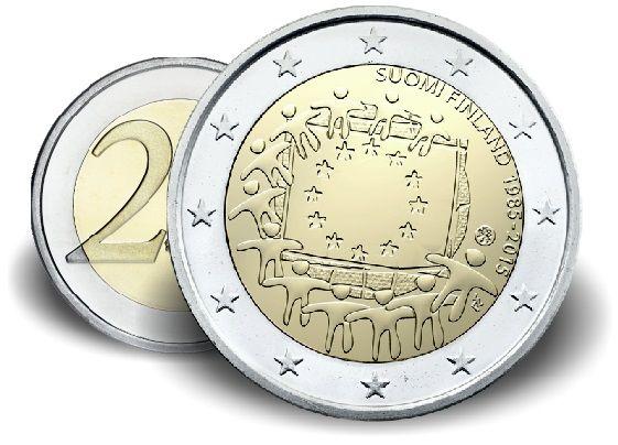 """2 € Finnland """"Europaflagge"""" 2015 CN vz"""