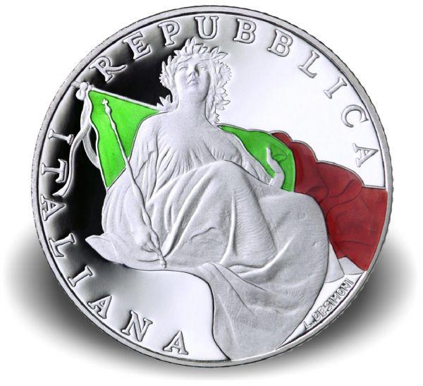 """5 € Italien """"70 Jahre Verfassung Italiens"""" 2018 Ag PP"""