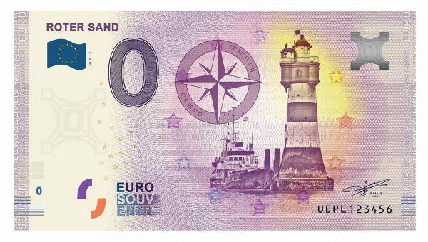 """0 € Banknote """"Leuchtturm Roter Sand"""" druckfrisch"""