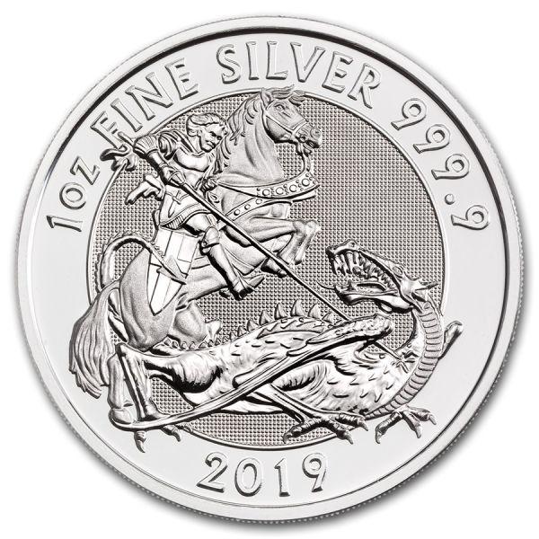 "2 £ GB ""St. George & der Drache"" 2019 Silber St Incuse"