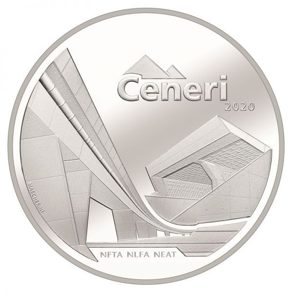20 CHF Schweiz NEAT - Ceneri 2020 Silber PP