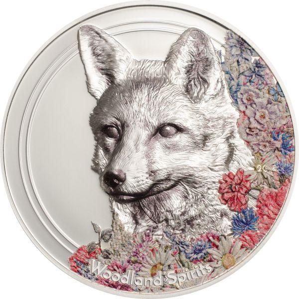 "500 Togrog Mongolei ""Woodland Spirits Fox"" 2018 Silber PL"