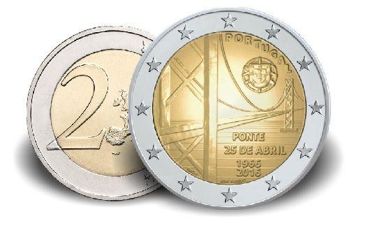 "2 € Portugal ""50 Jahre Brücke des 25. April"" 2016 Cn vz"