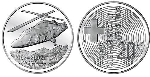 20 CHF Rega Rettungsflugwacht 2002 Ag St