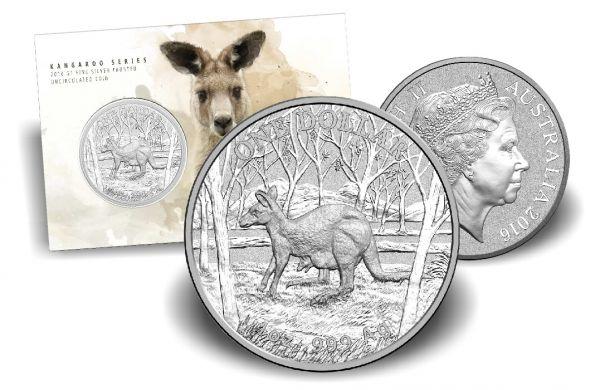 1 $ Australien Känguru 2016 Blister Ag St