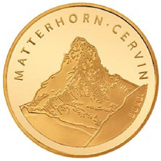 """50 CHF Gold """"Matterhorn"""" 2004 Gold PP"""