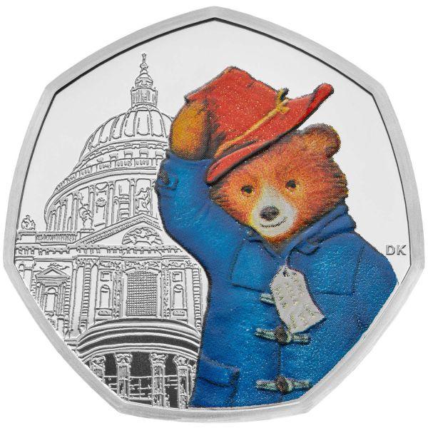 50 Pence Großbritannien Paddington Bär at St.Paul´s 2019 Silber PP