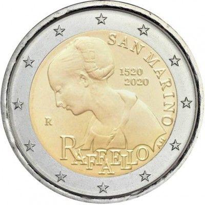 2 Euro San Marino 500. Todestag Raffaello 2020 CN vz