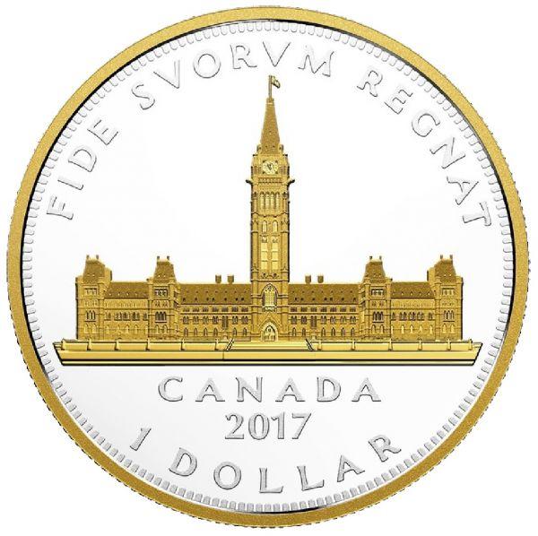 "1 $ Kanada ""Parlamentsgebäude - Renewed"" 2017 2oz Ag PP"