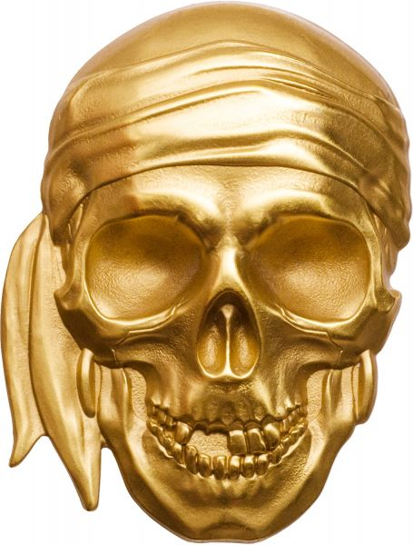 "200 $ Palau ""Pirate Skull - Blackbeard Edition"" 2018 Gold SF"