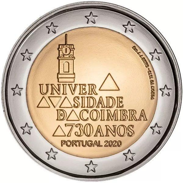 2 Euro Portugal Universität Coimbra 2020 CuNi bfr