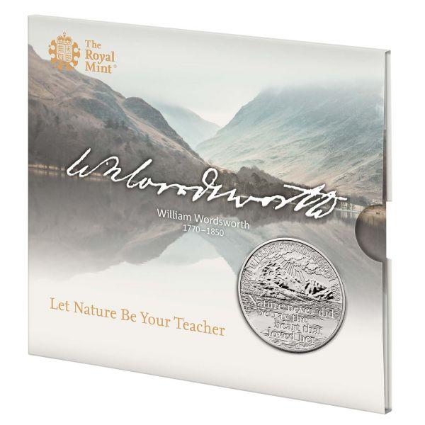 5 Pfund Großbritannien 250 Gb. William Wordsworth 2020 CuNi St