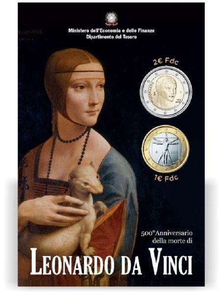 "1+2 € Italien ""500 Todestag Da Vinci"" 2019 CN St"