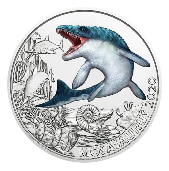 3 Euro Österreich Dinotaler - Mosasaurus 2020 Buntmetall hgh