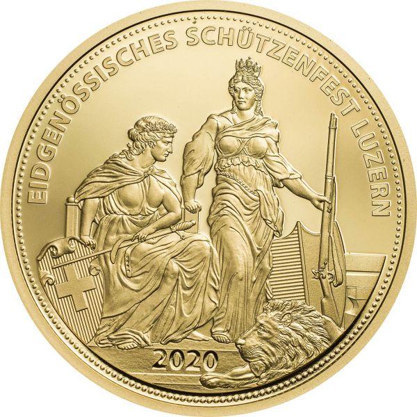 500 CHF Schützentaler Luzern 2020 Gold PP