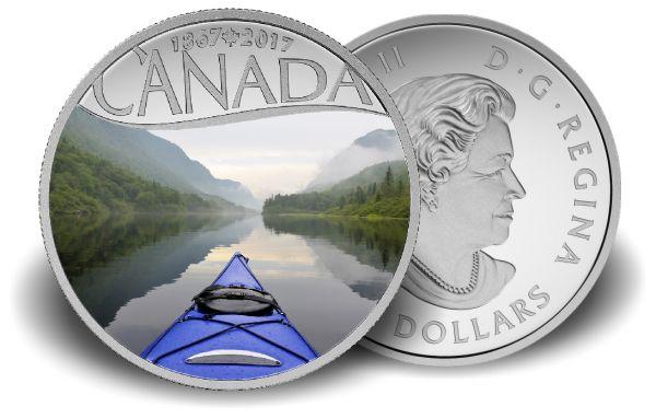 "10 $ Kanada ""Kajakfahren"" 2017 PP Ag -farbig-"