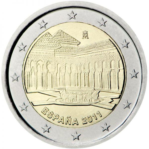"""2 € Spanien """"Alhambra"""" 2011 CN vz"""