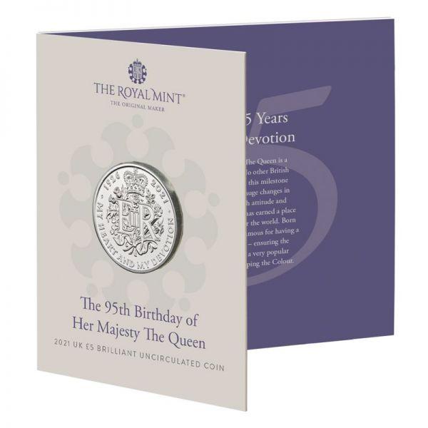 5 Pfund GB 95. Geb. Queen Elizabeth 2021 CuNi St