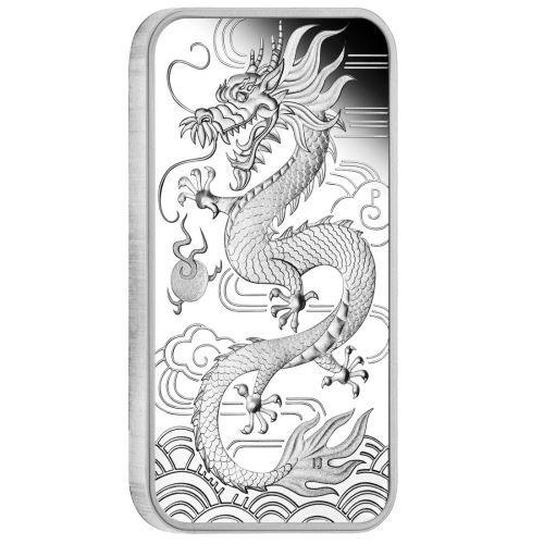 """1 $ Australien """"Chinesischer Drache - Barren"""" 2018 Ag PP"""
