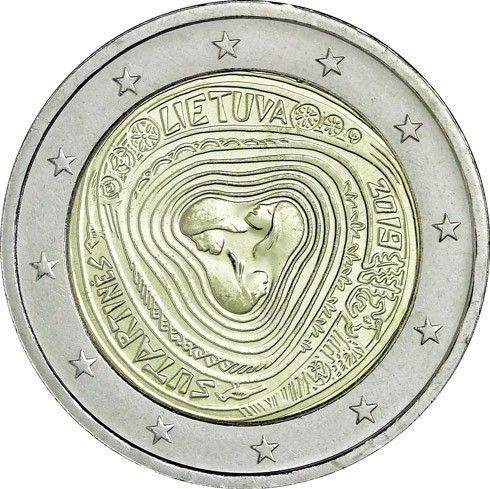 """2 € Litauen """"Volkslieder - Sutartines"""" 2019 CN bfr"""