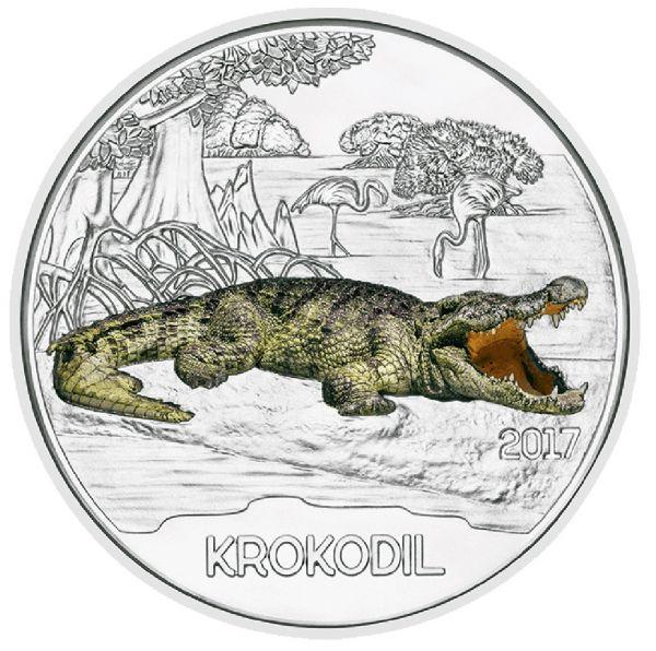 "3 € Österreich ""Tiertaler - Krokodil"" 2017 Buntmetall hgh"